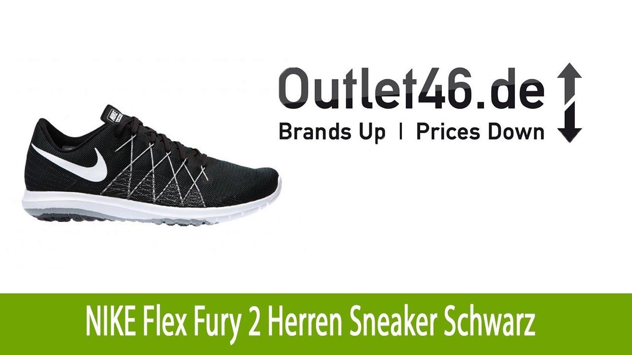 95477968d06db Eleganter NIKE Flex Fury 2 Herren Sneaker Schuh Schwarz l Outlet46 ...