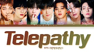 BTS Telepathy Lyrics (방탄소년단 잠시 가사) [Color Coded Lyrics/Han/Rom/Eng]