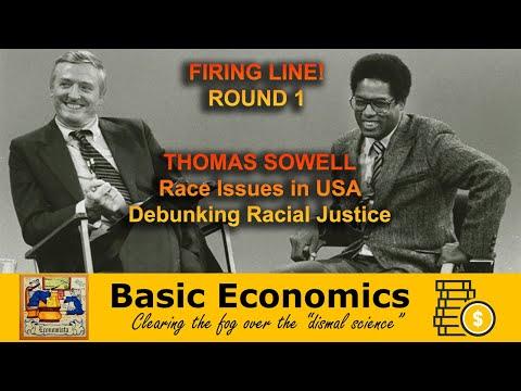 "Firing Line w/ Thomas Sowell ""The Economic Lot of Minorities"" Debunking Critical Race Theory"