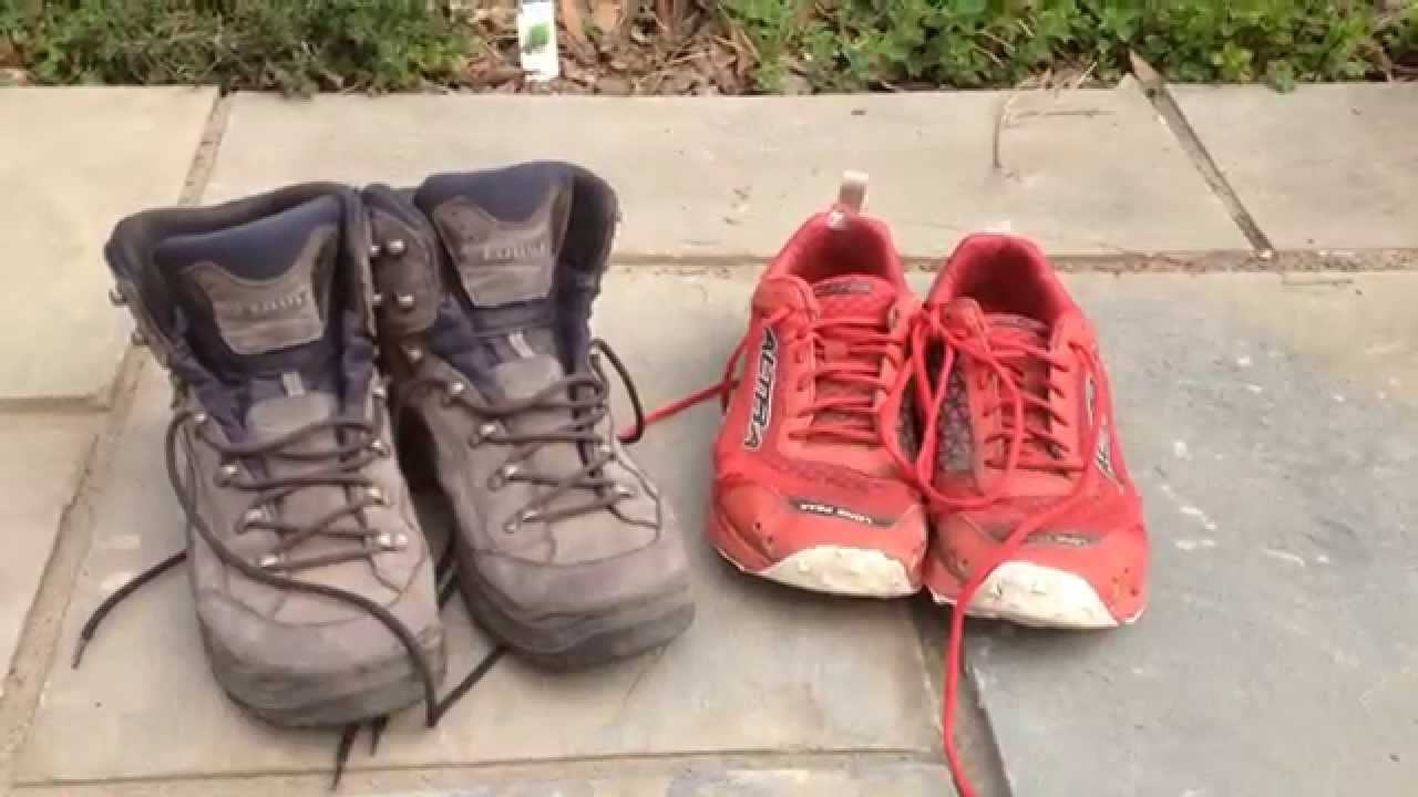PCT Thru Hike Gear: Shoes (Boots vs. Trail Runners) - YouTube