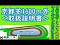 【マイルチャンピオンシップ】京都芝1600m外は一心不乱に〇〇と〇〇!(コース解説)