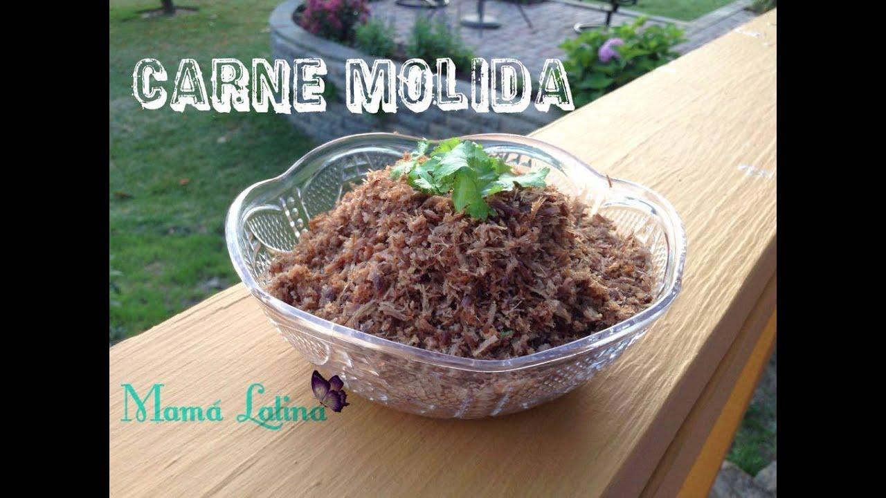 Carne molida colombiana facil y sencilla receta de for Comida facil y sencilla