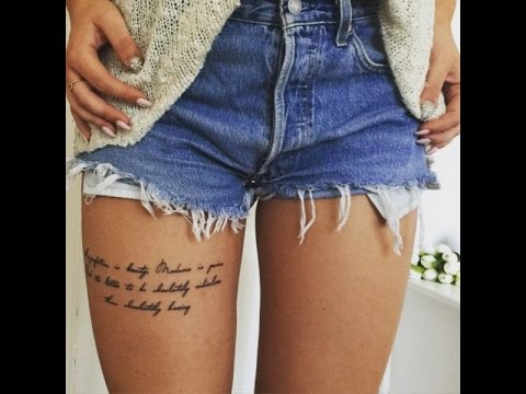 upper thigh tattoo quotes - YouTube