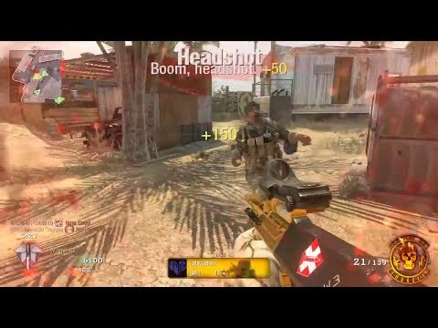 Call Of Duty: Black Ops - Gold Camo AUG Multiplayer Gameplay On Firing Range! COD BO1 Best Map!