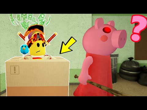 Roblox PIGGY, But I Hide In A BOX To Trick Players