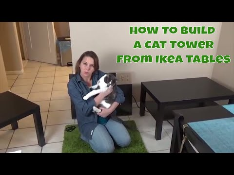 How to build a DIY cat tower - From Ikea coffee tables