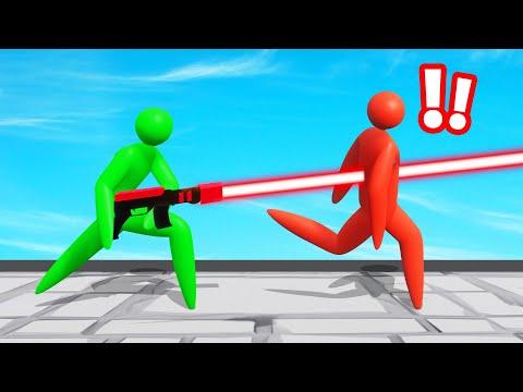 LASER SWORDS vs. STICK FIGURES! (Super Smash)