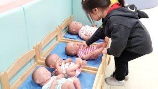 36개월 이하만 갈수 있는 엔젤스 키즈카페!! 대형 곰인형 베렝구어 아기인형 소꿉놀이 발피아노 미끄럼틀 Kids indoor playground