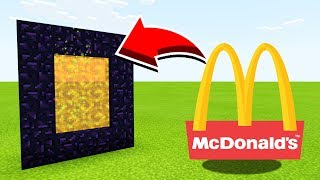 How To Make A Portal To The MCDONALDS Dimension In Minecraft