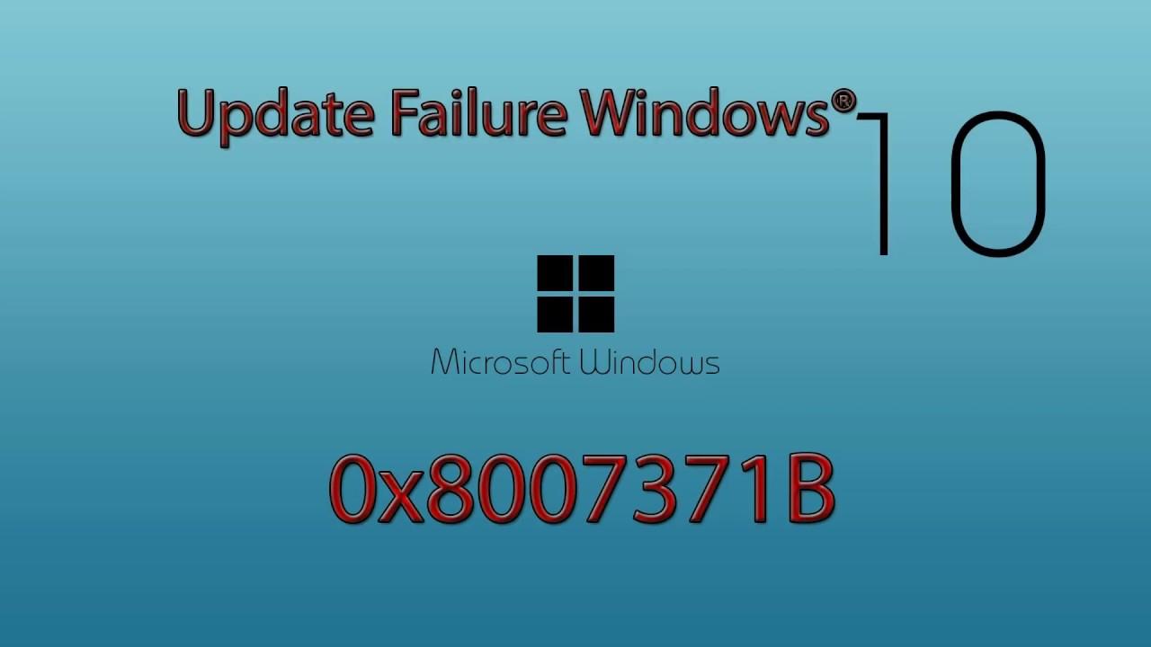 Fix Windows Update Error 0x8007371B