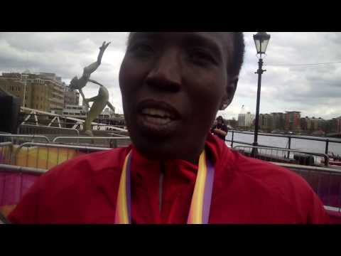 Edna Kiplagat after earning silver in the 2017 World Champs marathon