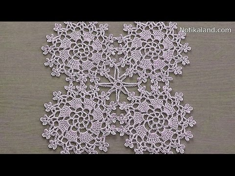 Crochet Motif Crochet Flower Motif Tutorial Part 2 Youtube