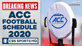 ACC football schedule 2020: 11-game season with one nonconference contest | CBS Sports HQ