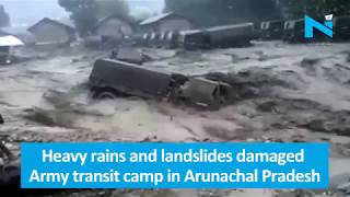 Flash flood washes away Army vehicles in Arunachal Pradesh