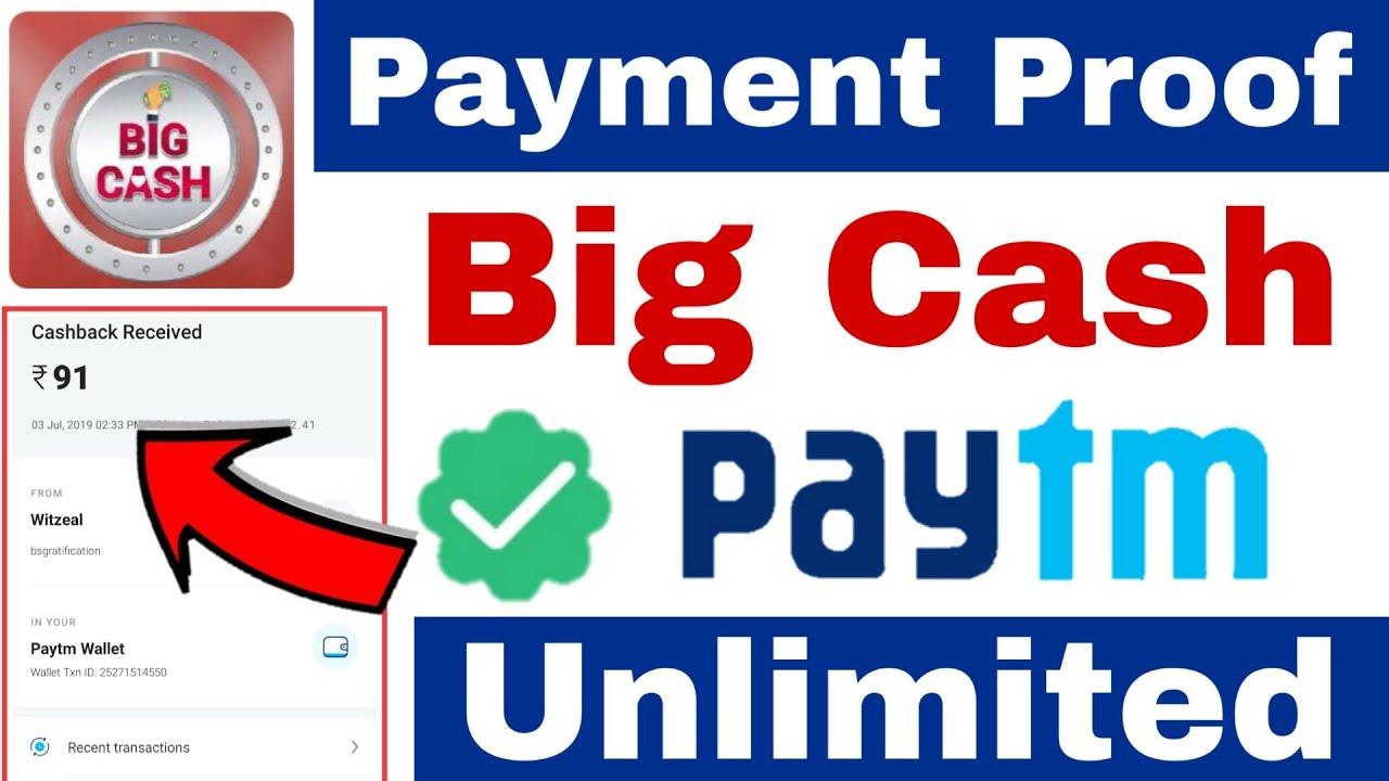 Big Cash App Payment Proof | big cash app se paise kaise kamaye |how to earn money from big cash app