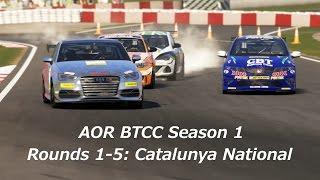 Forza 5 British Touring Car Championship R1-5: Catalunya National