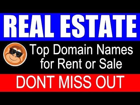 real estate properties domain names for rent