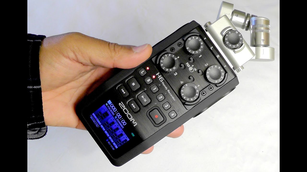 Zoom H6 Recorder Zoom H6 Handy Recorder Superb 6 Track Audio Recorder In Your Pocket Review