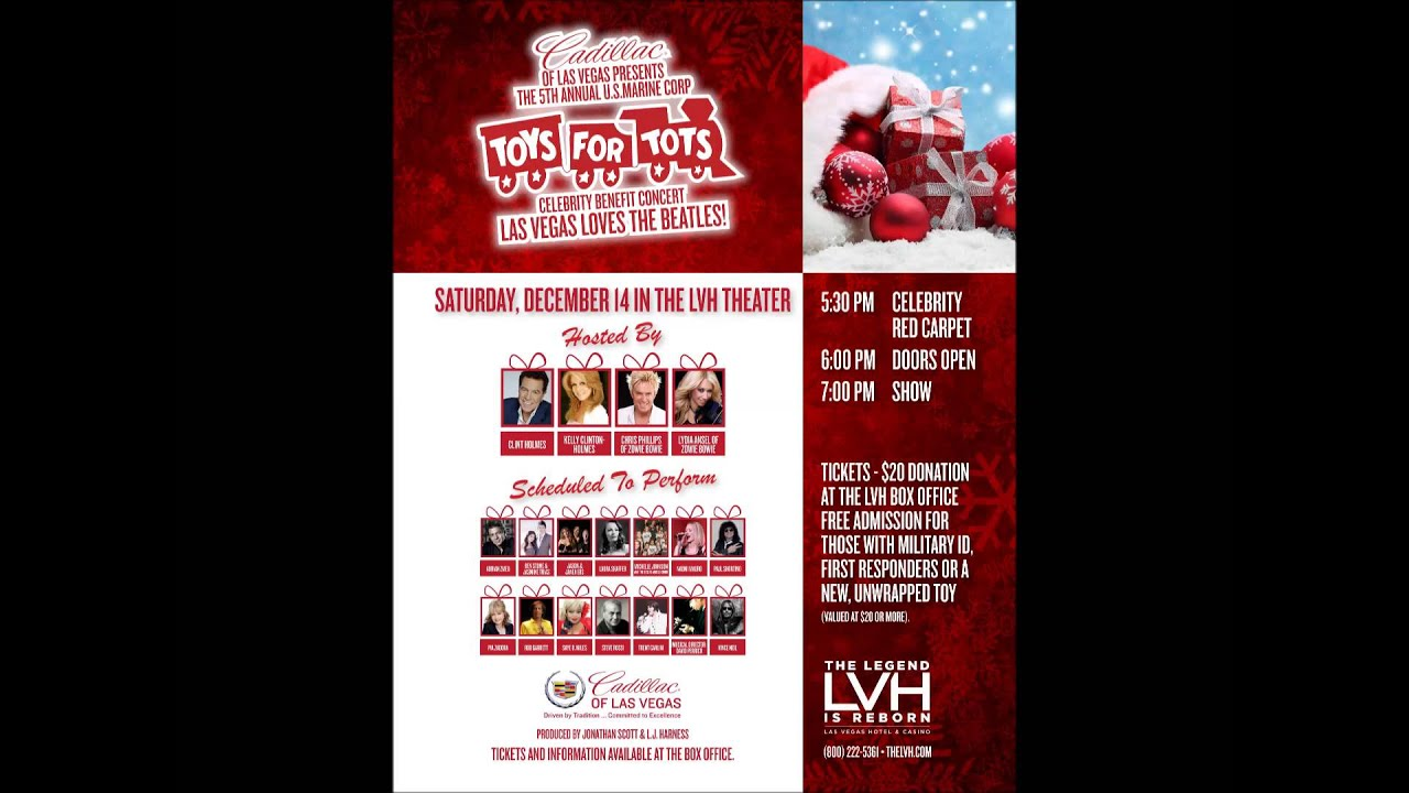 Las Vegas Toys For Tots : Toys for tots concert red carpet youtube