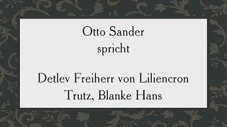 """Detlev Freiherr von Liliencron """"Trutz, Blanke Hans"""""""
