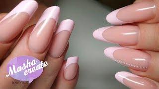 СЛОЖНАЯ коррекция ногтей Арочный миндаль! Наращивание ногтей + коррекция ногтей