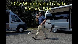 Walk Through 2018 Winnebago Travato 59K vs  59G Ram Promaster