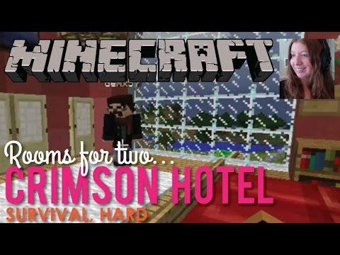 Episode 6, Building the Crimson Hotel in Minecraft - LIVE!