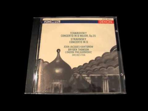 Jean Jacques Kantorow TCHAIKOVSKY Violin Concerto