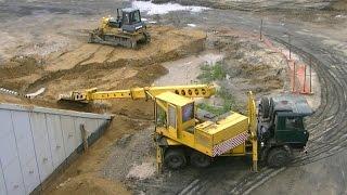 Tatra 815 UDS-114  planning slopes part 2(Tatra 815 UDS -114 telescopic excavator planning slopes Экскаватор-планировщик Татра 815 УДС-114 планирует откосы ▽▽▽▽▽▽▽▽▽▽▽▽..., 2016-07-19T08:13:36.000Z)