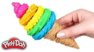 Easy Play Doh Ice Cream | How to Make Rainbow Ice Cream with Play Doh for Kids