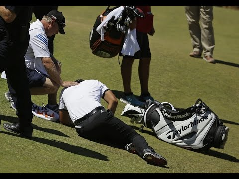 Jason Day Collapses with Vertigo (actual footage HD) - June 19th 2015