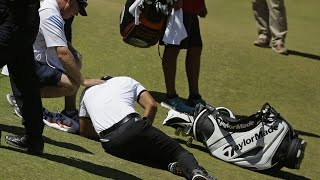 Jason Day Collapses with Vertigo (actual footage HD) - June 19th 2015