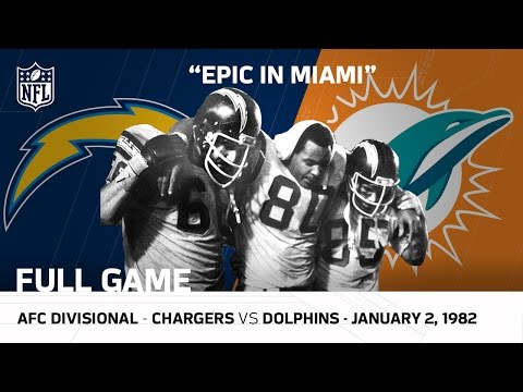 Epic In Miami/Kellen Winslow Game Chargers vs Dolphins 1981 Divisional Playoffs (Full Game) | NFL