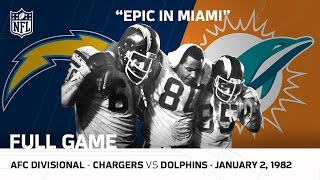 Epic In Miami/Kellen Winslow Game Chargers vs Dolphins 1981 Divisional Playoffs | NFL Full Game