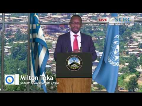 Mr. Milton Taka -  Spokesperson for Africa talks to the people