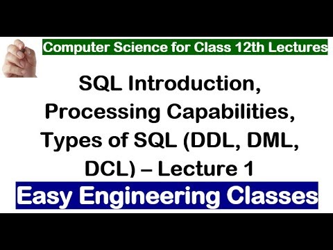 Introduction of SQL and Types of SQL Language - Lecture 1 - Easy Engineering Classes