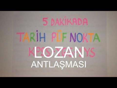 5 Dakikada LOZAN BARIŞ ANTLAŞMASI