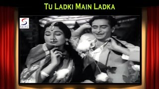 Video Tu Ladki Main Ladka | Asha Bhosle, Mohammed Rafi | Do Ustad @ Raj Kapoor, Madhubala download MP3, 3GP, MP4, WEBM, AVI, FLV November 2017