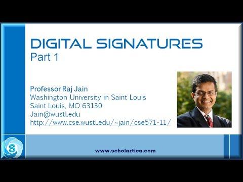 Digital Signatures: Part 1