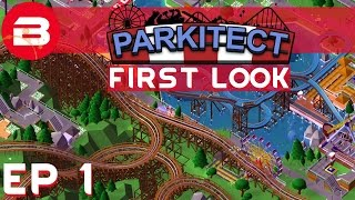 Parkitect First Look - Theme Park Simulator - Ep 01 (Gameplay)