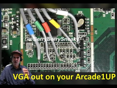 Get VGA out of your Gen 1 Arcade1UP!  How Berry Berry Sneaky ;) from Glen Planamento