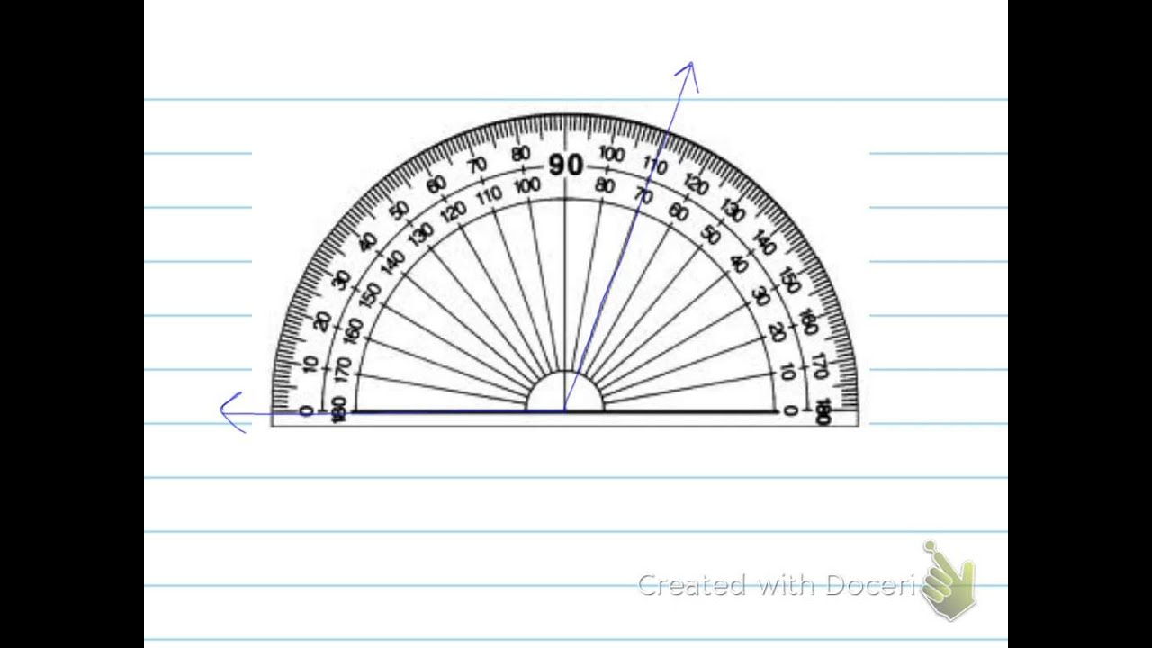 worksheet A Protractor use and read a protractor 6th grade youtube grade