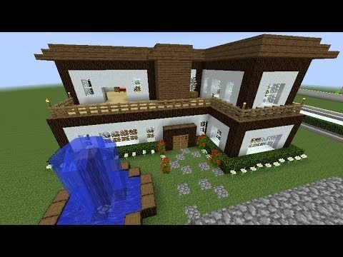 Minecraft como hacer una casa moderna tutorial de for Minecraft videos casas