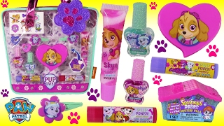 Paw Patrol Beauty TOTE!  Lip Gloss Nail Polish! SKye Everest Pup Power Organizer! Twozies Squinkies!