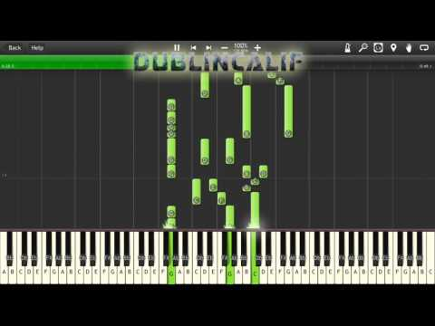Pokemon Red, Blue, Yellow - Road to Cerulean Leaving Mt Moon Theme Piano Tutorial Synthesia