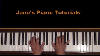 End Credits or Over the Moon from E. T. Piano Tutorial RH SLOW