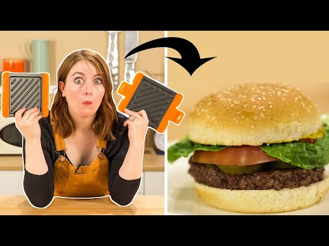 I Tested A Microwave Burger And Panini Maker • Tasty