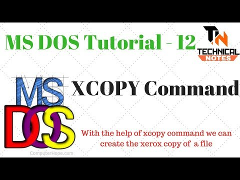 XCOPY Command In DOS