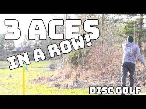 THREE ACES IN A ROW! DISC GOLF! - KOLME Holaria Peräkkäin Frisbeegolfissa