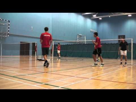 Cheshire vs Lans MD Badminton - Rich Morrissey Mike Phillips 31/01/16 PART 1